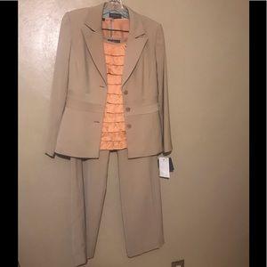 Liz Claiborne pantsuit tan, size 8.  Polyester